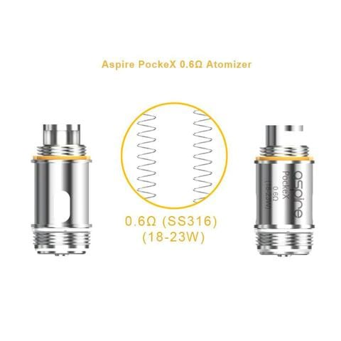 Aspire PockeX Coils 5 Pcs