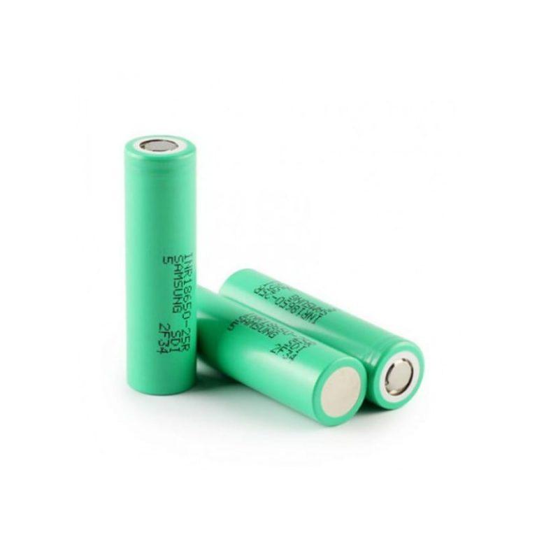 Samsung 25R 18650 2500mAh 20A Batteri - INR18650-25R