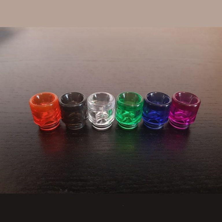Clear Glass 810 Resin Drip Tip Anti Spitback