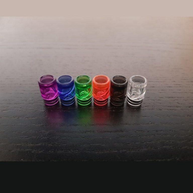 Klar Glas 510 Resin Drip Tip Anti Spitback