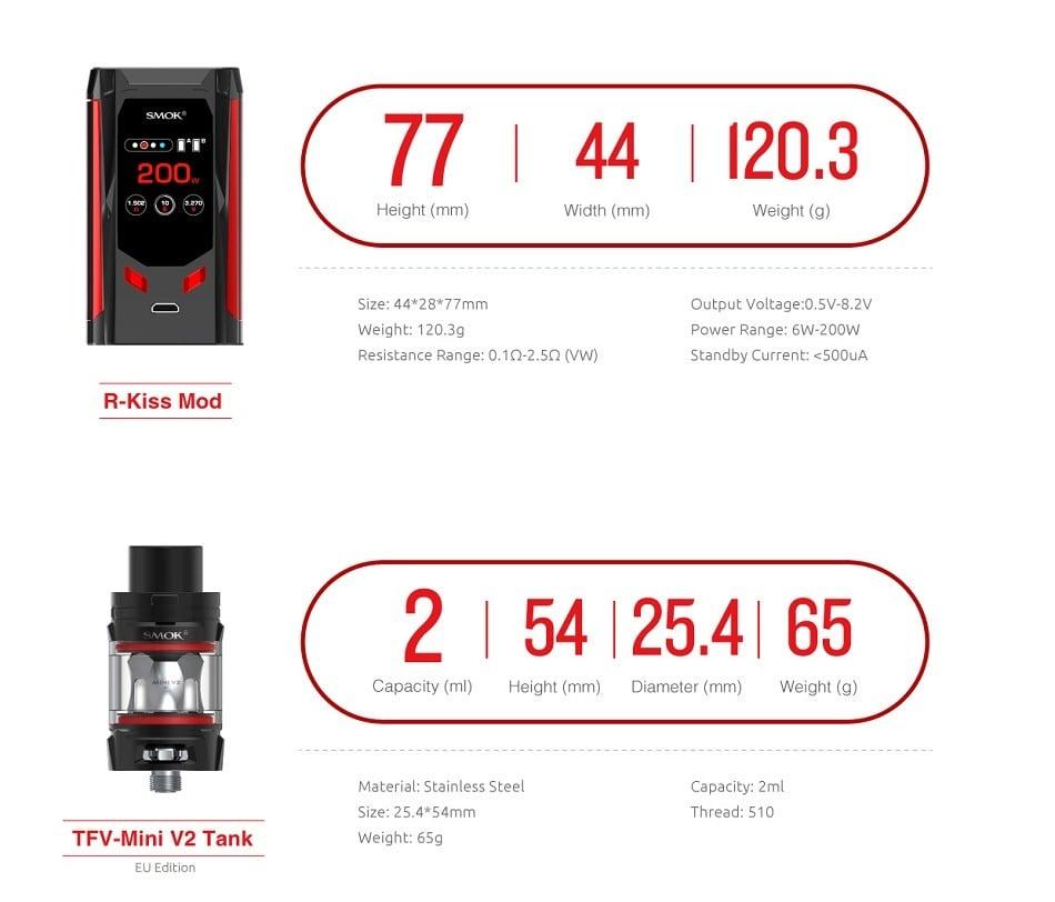 Smok R-Kiss Kit with TFV-Mini V2 - 2ml