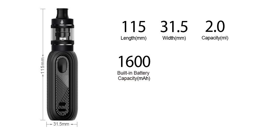 Aspire Reax Mini Kit 1600mAh with 2ml Tigon Tank