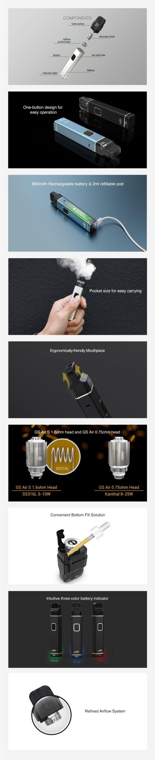 Eleaf iTap Pod Starter Kit 800mAh