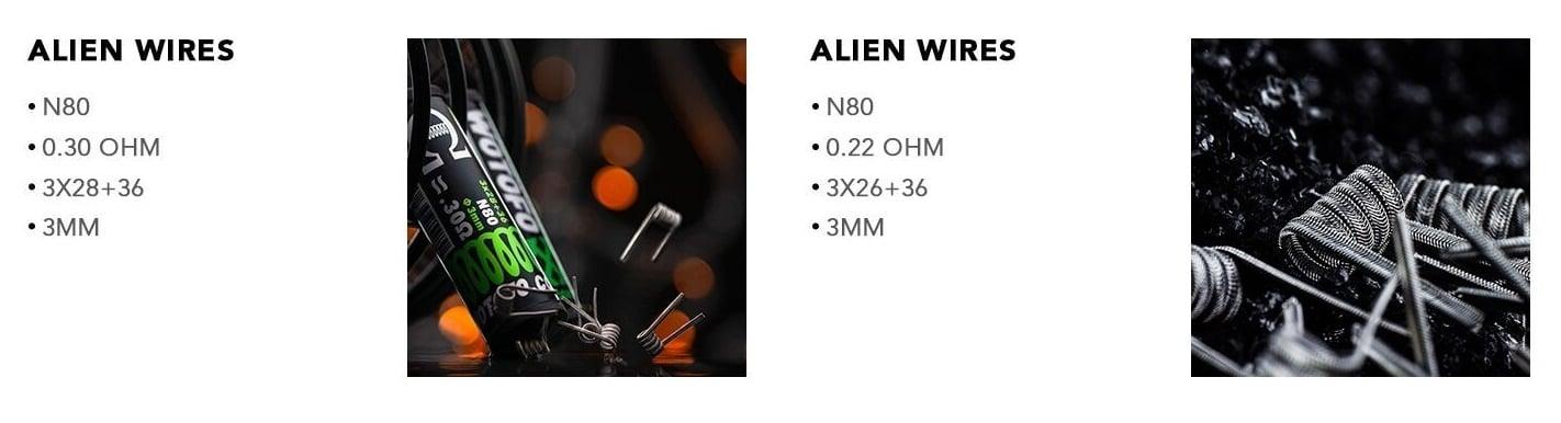 Wotofo - Alien Wires tekercsek
