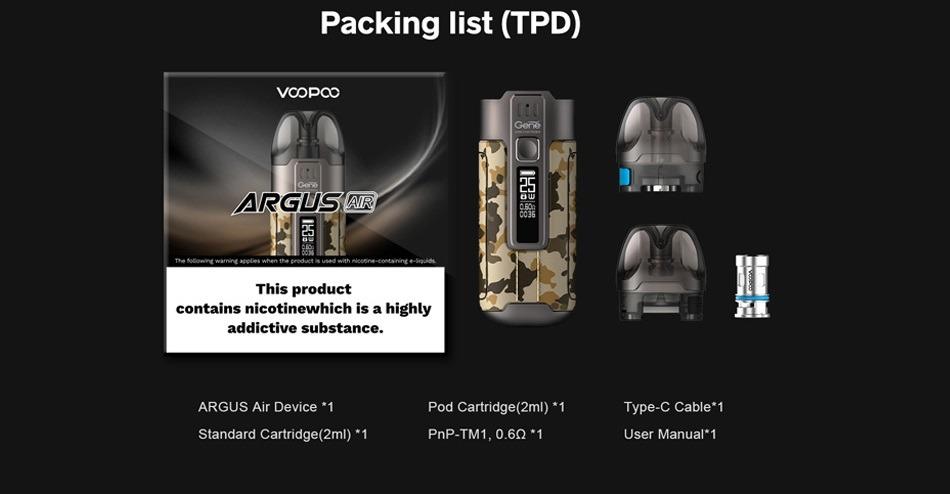 VOOPOO - Argus Air Pod Kit 900mAh