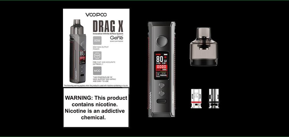 VOOPOO - DRAG X 18650 Mod Pod Kit