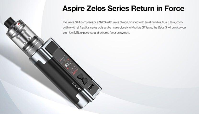 ASPIRE - ZELOS 3 KIT WITH NAUTILUS 3 TANK