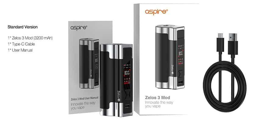 ASPIRE - ZELOS 3 MOD 3200 mAh