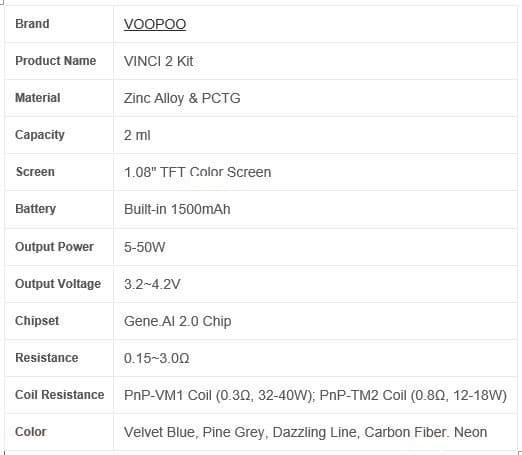 VOOPOO - VINCI 2 KIT